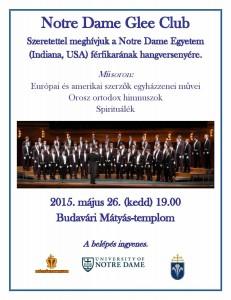 Notre Dame Glee Club hangverseny_plakát
