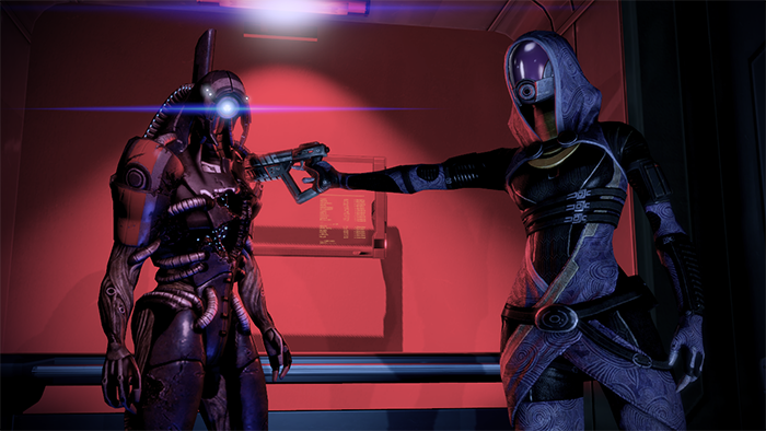 Shepard may have to settle conflicts between squad members.